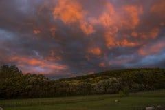 Niebo przed burzą Fotografia Royalty Free