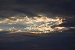 Niebo przed burzą Zdjęcia Stock