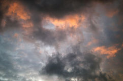 niebo przed deszczem Zdjęcia Royalty Free