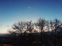 Niebo przed wschodem słońca zdjęcie stock