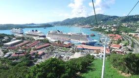 Niebo przejażdżka nad Świątobliwym Thomas, święty Thomas, U S wyspy dziewicze zbiory