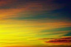 Niebo przy półmrokiem, San Diego, Kalifornia fotografia stock