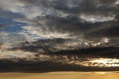Niebo przy zmierzchem Fotografia Stock