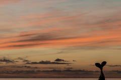 Niebo przy zmierzchem w Cotillo Zdjęcie Royalty Free