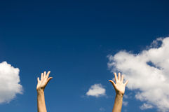 niebo reach zdjęcie stock