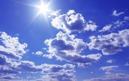 niebo słoneczny fotografia stock