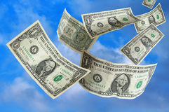 niebo się pieniądze Fotografia Stock