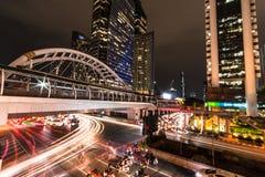 Niebo spaceru BTS nieba spaceru BTS ` Chong Nonsi ` Bangkok Tajlandia zdjęcie stock