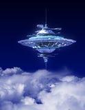 Niebo stacja Nad chmury ilustracja wektor