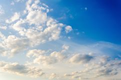 Niebo tekstura z chmurami Zdjęcie Royalty Free
