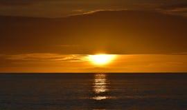 Niebo w Cornwall, zmierzch oceanem Obrazy Stock