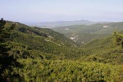 Niebo w górze Ida w jesieni, Turcja Obraz Stock