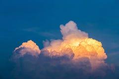 Niebo w wieczór Zdjęcie Royalty Free