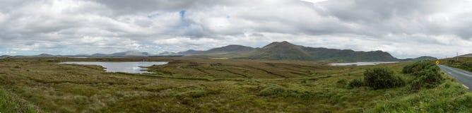 Niebo widoku Drogowy krajobraz Obrazy Royalty Free
