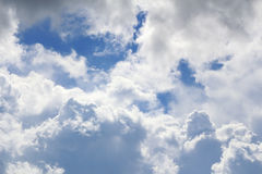 Niebo z burzowymi chmurami Fotografia Royalty Free