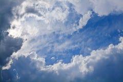 Niebo z chmurami Zdjęcie Stock