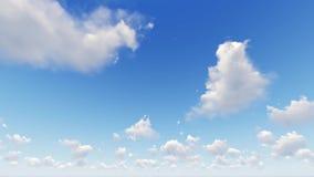 Niebo z chmurami, upływ