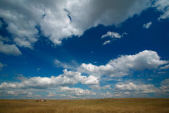 niebo zachmurzone krajobrazu Obraz Royalty Free