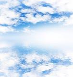 niebo zachmurzone oceanu Zdjęcie Royalty Free