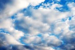 niebo zachmurzone tła Obraz Stock