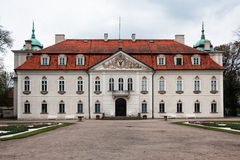 Nieborow Palace seen from the gardens Royalty Free Stock Photography