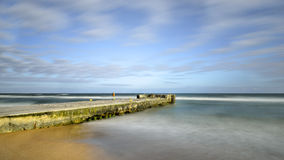 Niechorze, Polish spa, view of the pier, nature Stock Images