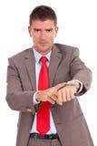 Niecierpliwy biznesowy mężczyzna Obrazy Stock