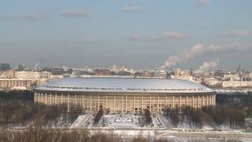 Niecka na Moscow zimy miasta głąbiku zdjęcie wideo