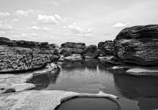 niecka Uroczysty jar, Zadziwiać skała w Mekong rzece Obrazy Royalty Free