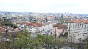 Niecka Wysoki miasto widok od Letna parka w Praga, republika czech zdjęcie wideo