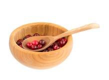 Niecka z cranberry Fotografia Royalty Free