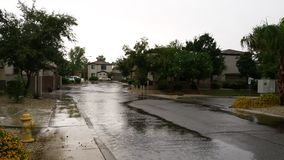 Niedźwięczny deszczowy dzień w Phoenix, AZ obrazy stock