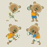 Niedźwiadkowa atleta royalty ilustracja