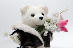 niedźwiadkowa wiązka kwitnie miś pluszowy Zdjęcie Stock