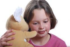 niedźwiadkowi dziewczyny miś pluszowy potomstwa Zdjęcia Royalty Free