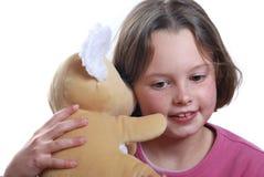 niedźwiadkowi dziewczyny miś pluszowy potomstwa Zdjęcia Stock