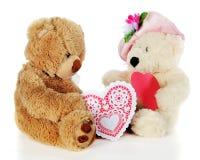 Niedźwiadkowi serca Zdjęcia Stock