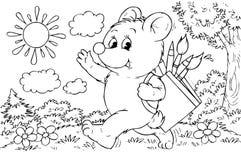 Niedźwiadkowy artysta Obrazy Royalty Free
