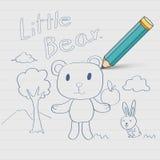 Niedźwiadkowy Doodle nakreślenie royalty ilustracja