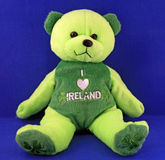 niedźwiadkowy irlandzki miś pluszowy Obraz Stock