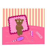 niedźwiadkowy izbowy miś pluszowy Zdjęcia Stock