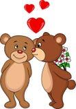 Niedźwiadkowy pary całowanie Fotografia Stock