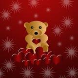 niedźwiadkowy piękny kochający miś pluszowy ilustracji