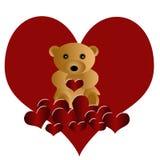 niedźwiadkowy piękny kochający miś pluszowy ilustracja wektor