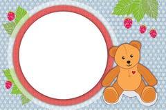 niedźwiadkowy ramowy miś pluszowy Obraz Royalty Free