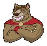 Niedźwiadkowy rysunkowy królewiątka ono uśmiecha się Zdjęcia Stock