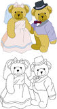 niedźwiadkowy s miś pluszowy ślub Fotografia Royalty Free