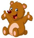 niedźwiadkowy szczęśliwy miś pluszowy ilustracja wektor