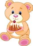 niedźwiadkowy tortowy miś pluszowy Fotografia Royalty Free