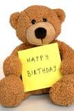 niedźwiadkowy urodzinowy szczęśliwy Obrazy Stock